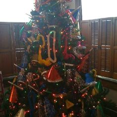 Make a New Year's Tree ..... Take Christmas decorations off and redecorate with New Year's Eve party favors