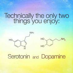 Technically we are also addicted to Serotonin and Dopamine Dopamine Tattoo, Chemistry Tattoo, Science Humor, Spirit Science, Weird Science, Science Fun, Biochemistry, Science And Nature, Tattoo Ideas