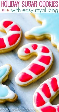 These Holiday Cut-Out Sugar Cookies with Easy Icing are so simple and festive for Christmas!