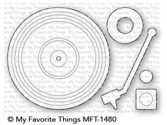 The Turntable Die-namics features a record measuring approximately 3 inches in diameter. Hipster Mustache, Musical Cards, Tarjetas Pop Up, Mft Stamps, Record Player, The Good Old Days, Stamping Up, Diy Cards, Turntable