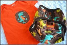 Cloth diaper cover and matching embellished tee  por Zookaboo, $27.00