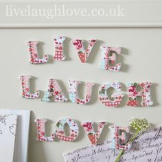 Magnetic Letters-Live Laugh Love-Patchwork