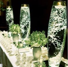 baby's breath as a focal point centerpiece