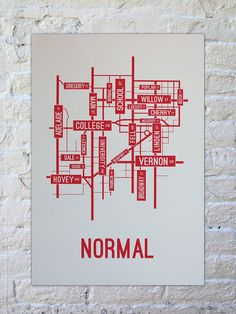 This Street Map Art Print Of Champaign Urbana Illinois Is Printed - Us college map poster
