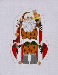 """Armchair Santa by Mile High Princess $90.20, 18 mesh 8.5""""x6"""""""