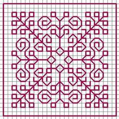 Biscornu Cross Stitch, Cross Stitch Borders, Cross Stitching, Cross Stitch Patterns, Kasuti Embroidery, Cross Stitch Embroidery, Embroidery Patterns, Hand Embroidery, Graph Paper Drawings