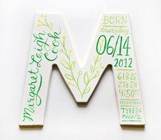 Baby monogram gift idea