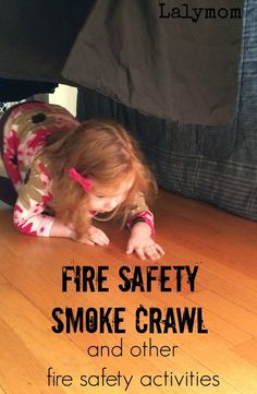 3 Fire Prevention Week Activities on Lalymom.com - Set up this easy fire safety activity for kids to get them practicing crawling under pretend smoke- how smart! #firesafety #fireprevention #education #kids #safetytipsforladies