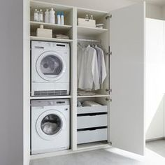 50 Beautiful and Functional Laundry Room Design Ideas Laundry room decor Small laundry room ideas Laundry room makeover Laundry room cabinets Laundry room shelves Laundry closet ideas Pedestals Stairs Shape Renters Boiler Laundry Cupboard, Utility Cupboard, Laundry Room Cabinets, Basement Laundry, Laundry Closet, Laundry Room Organization, Laundry In Bathroom, Wall Cabinets, Laundry Tips