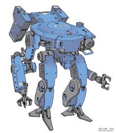 """utilitarian mech for offworld labor, sketch from Robot Manga, Anime Manga, Robots Characters, Armadura Medieval, Science Fiction, Sci Fi Armor, Robot Concept Art, Cyberpunk Art, Sketch Design"