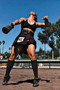 Summer Pearson, women's world champion of the Highland Competition 2007.
