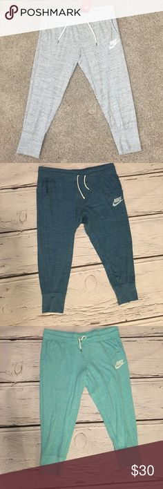 Nike pants Thin and great fit! Brand new with tags! Different colors! Gray, blue, aqua blue. COMMENT WITH THE COLOR YOU WANT ONCE YOU PURCHASE! Nike Pants Track Pants & Joggers
