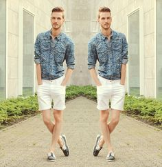 H&M Denim Shirt, Asos Denim Shorts