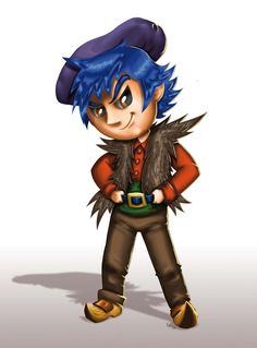 chibi evil country boy concept art all rights reserved Laurent Miny 2017