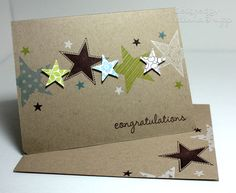 Congratulations card with stars