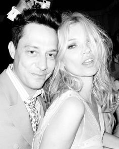 Jamie Hince & Kate Moss, wedding day photo.