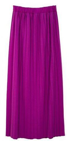 Maxi falda plisada, encuentra más modelos de esta prenda aquí...http://www.1001consejos.com/top-10-maxi-faldas/