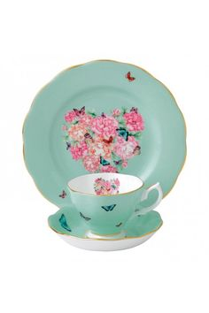 By Miranda Kerr for Royal Albert Blessings 3-Piece Tea Place Setting.  Waterford Wedgwood Royal Doulton, Tanger Outlets, San Marcos, TX or call 1-800-203-4540 or 512-396-4025.  We ship.