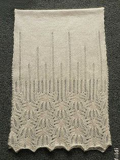 Panna Frost Flower Lace Shawl could be just the curtain I'm looking for---but in black cotton.