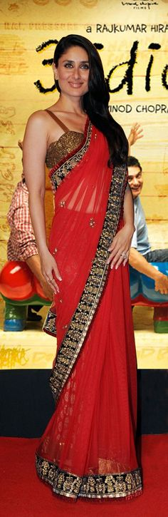 Kareena in red saree