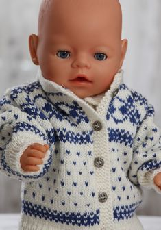 Baby Knitting Patterns Girl Knitting for baby born Knitting Dolls Clothes, Crochet Doll Clothes, Knitted Dolls, Doll Clothes Patterns, Baby Born Clothes, Girl Doll Clothes, Girl Dolls, Baby Dolls, Baby Pop