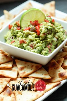 Guac...my absolute FAV!!! Yummy!  Simple and delicious. A fab recipe for Chunky Guacamole!