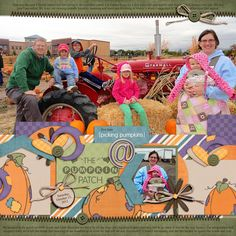 fall scrapbook ideas | pumpkin patch pics!