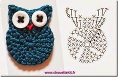 crochet small owl bufnita