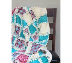 Modern Rag Quilt - Crib, $105.0