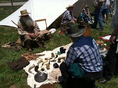 Traders barter at the Annual Rendezvous at Fort de Chartres near Prairie du Rocher. Photo courtesy of Christopher Martin. Randolph County, IL.  http://www.ftdechartres.com