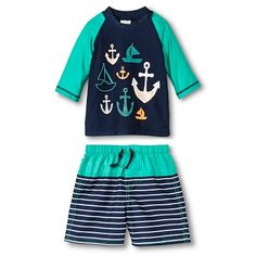 Just One You™ Made by Carter's® Toddler Boys' Anchor Rash Guard and Matching Swim Trunks