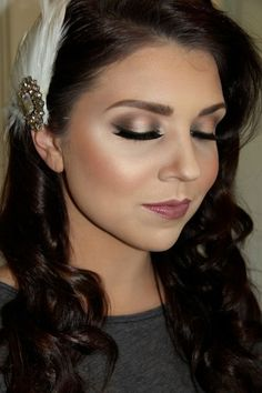 Gorgeous vintage makeup look - perfect for a bride! | thebeautyspotqld.com.au