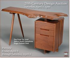 20th Century Design Auction - April 6 at Michaan's Auctions #modern #auction #michaans #furniture #nakashima
