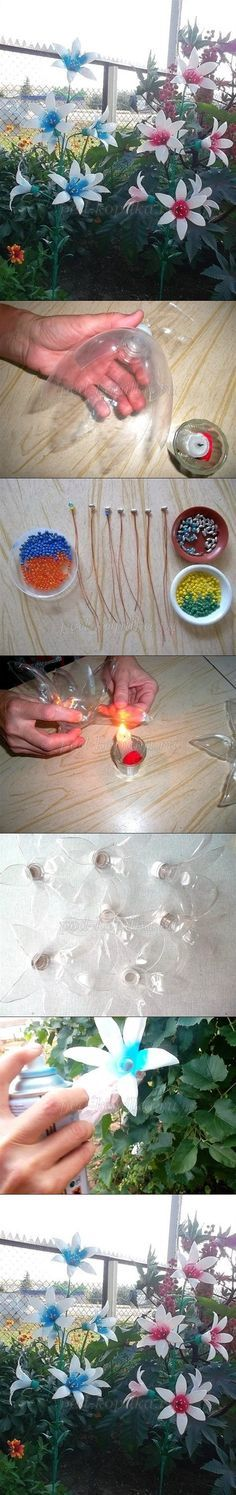 DIY Flower for Garden from Plastic Bottle