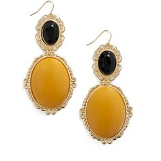 Bold Beauty Earrings ($18) ❤ liked on Polyvore featuring jewelry, earrings, accessories, yellow, plastic earrings, plastic jewelry, earring jewelry, yellow jewelry and yellow earrings