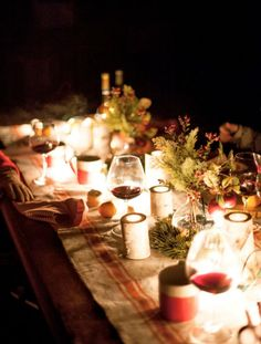 Get inspired for a candlelit holiday feast.  via Rue