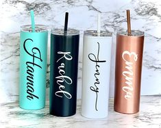 Check out our bridesmaid gifts selection for the very best in unique or custom, handmade pieces from our bridesmaids' gifts shops. Personalized Tumblers, Custom Tumblers, Personalized Gifts, Vinyl Tumblers, Bridal Shower Gifts For Bride, Bridal Gifts, Bride Shower, Baby Shower, Bridesmaid Bracelet