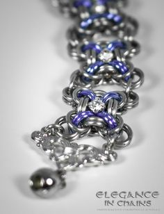 Crystal Cubes Chainmaille by EleganceinChains