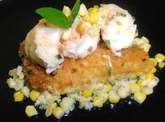 Butter Poached Lobster & Coconut Corn Pudding Recipe  http://www.justapinch.com/recipes/main-course/fish/butter-poached-lobster-coconut-corn-pudding.html?p=326#