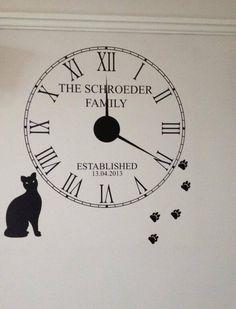 Customer custom made wall clock from Wall Chimp
