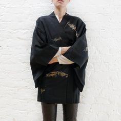 Black Silk Haori Jacket
