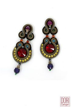 Add luxe to your look with Dori's day to cocktail Glow earrings and enjoy off! to cocktail Jewelry Stores, Diy Jewelry, Beaded Jewelry, Jewelry Design, Designer Jewellery, Haute Couture Designers, Soutache Earrings, Jewel Tones, Ring Necklace