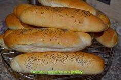 Slovak Recipes, Czech Recipes, Bread Recipes, Cooking Recipes, Ciabatta, Bread Rolls, What To Cook, Pizza Dough, Hot Dog Buns
