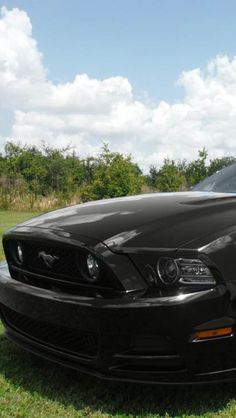 Black Ford Mustang #car #black