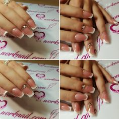 Perfect nails for a perfect bride.