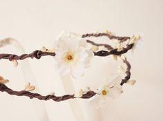 Woodland bridal crown Rustic flower crown Bridal by Lietofiore, $65.00