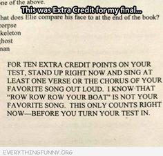 funny college midterm exam essay answer