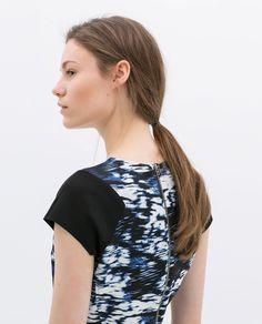Image 4 of PRINTED ZIP-BACK TUBE DRESS from Zara