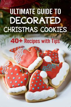 Ultimate Guide to Decorated Christmas Cookies recipes with tips) The Ultimate Guide to Decorated Christmas Cookies. recipes with tips and tricks to teach you how to decorate Christmas Cookies. From sugar cookies, gingerbread cookies, shortbread an Gingerbread Man Cookies, Christmas Sugar Cookies, Christmas Snacks, Christmas Pudding, Holiday Cookies, Christmas Recipes, Gingerbread Icing, Holiday Recipes, Christmas Ideas