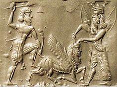 Gilgamesh and Enkidu slaying the bull of heaven
